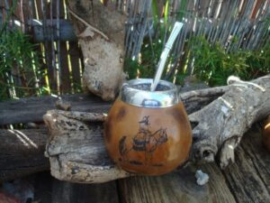 photo of mate in post on how to dring mate in argentina